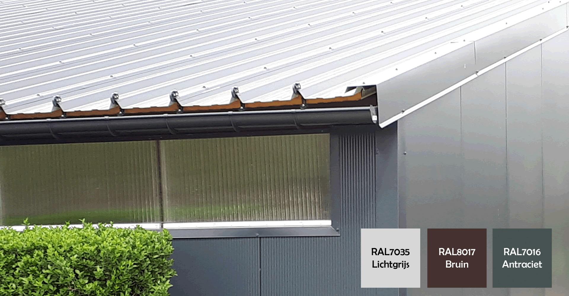 Dakgoten dakplaten met RAL-kleuren