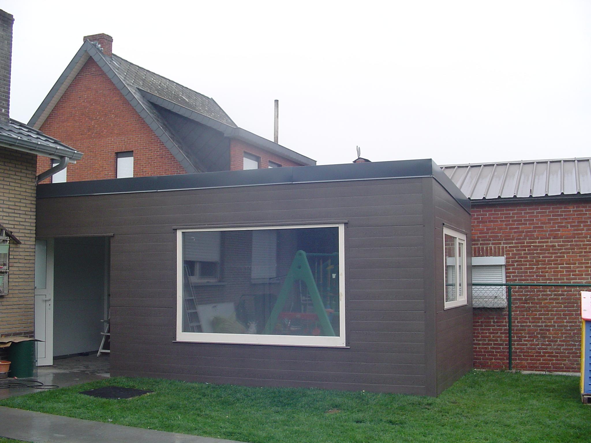 Bijzet tuinhuis met ramen en dubbele deur